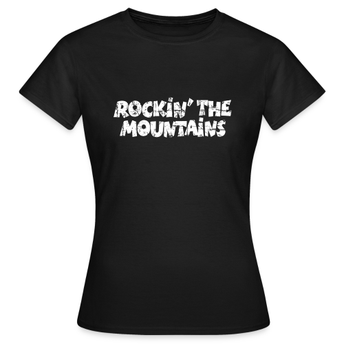 Rockin' the Mountains T-Shirt (Damen Schwarz/Weiß) - Frauen T-Shirt