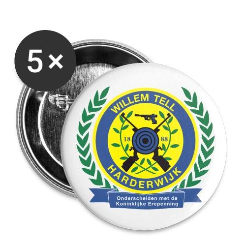 Buttons met logo - Buttons middel 32 mm (5-pack)
