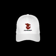 Caps & Mützen ~ Flexfit Baseballkappe ~ Flexfit Baseballkappe mit Waaaghgaming Logo weiß