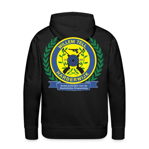Mannensweater met logo groot achterop - Mannen Premium hoodie