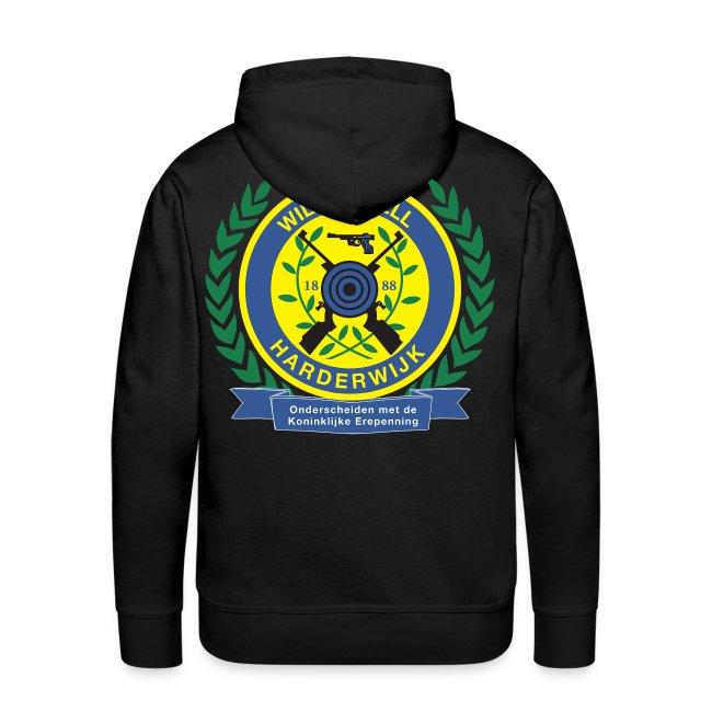 Mannensweater met logo groot achterop