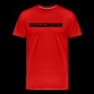 T-Shirts ~ Men's Premium T-Shirt ~ T-Shirt Men, Black Stroke
