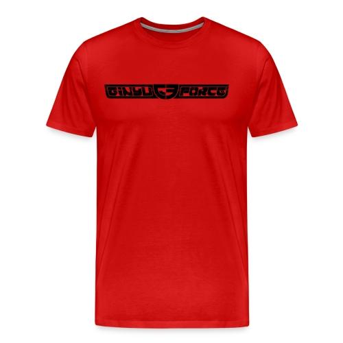 T-Shirt Men, Black Stroke - Men's Premium T-Shirt