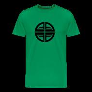 T-Shirts ~ Men's Premium T-Shirt ~ T-Shirt men, Black Disk