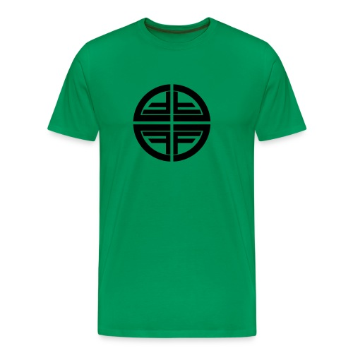 T-Shirt men, Black Disk - Men's Premium T-Shirt