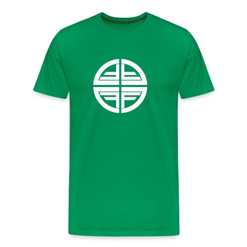 T-Shirt men, White Disk - Men's Premium T-Shirt
