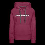 Hoodies & Sweatshirts ~ Women's Premium Hoodie ~ Hoodie women, White Stroke