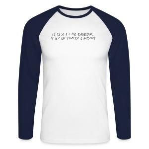 T-shirt baseball manches longues Homme - Modèle : Là ou il y a une différence, il y a une richesse à partager  Pour rappel : C'est un braille imprimé (sans le relief) A savoir : Les graphismes sont de couleurs noirs, donc privilégiez le choix des couleurs claires pour les produits