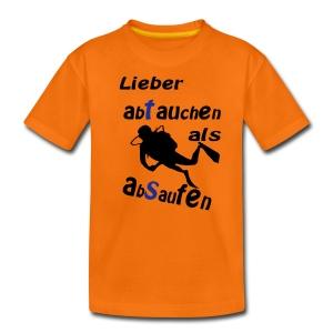 Lieber abtauchen als absaufen - Teenager Premium T-Shirt