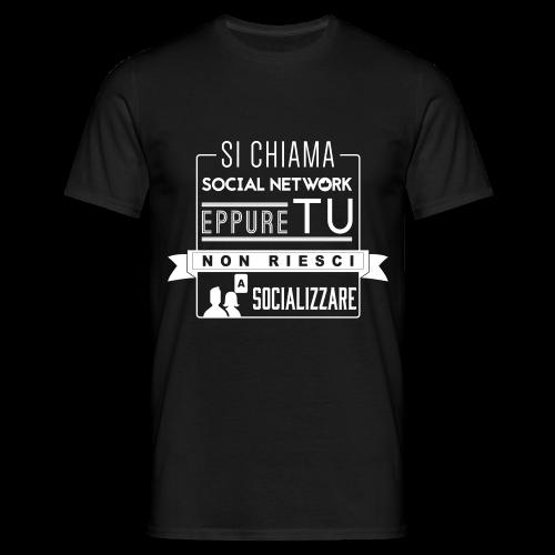 Social Network Maglietta da uomo logo bianco - Maglietta da uomo