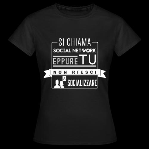 Social Network Maglietta da donna logo bianco - Maglietta da donna