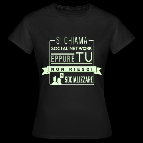 Social Network Maglietta da donna glow in the dark - Maglietta da donna