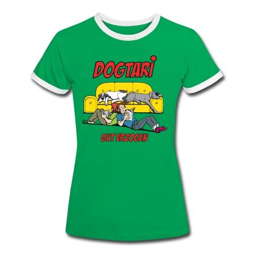 Dogtari Gut Erzogen - Frauen Kontrast-T-Shirt
