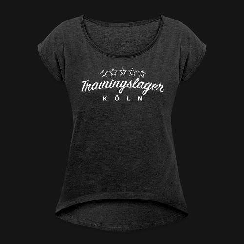 Trainingslager Women Shirt (grau) - Frauen T-Shirt mit gerollten Ärmeln