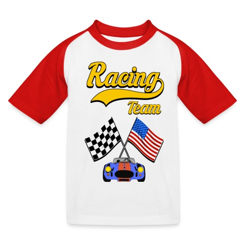 Racing Team - Kids' Baseball T-Shirt