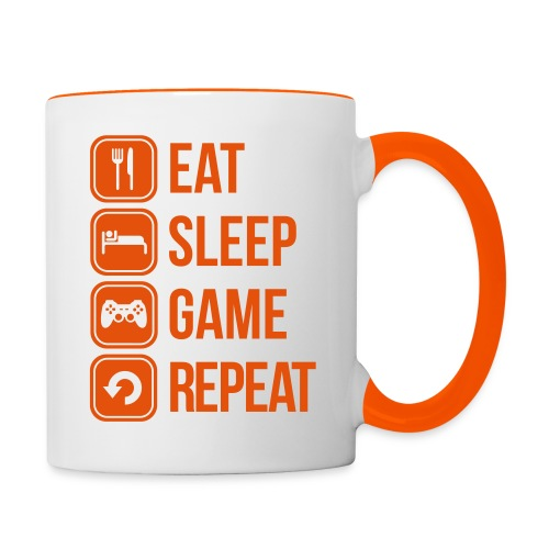 Tasse Geek - Eat Sleep Game Repeat - Mug contrasté