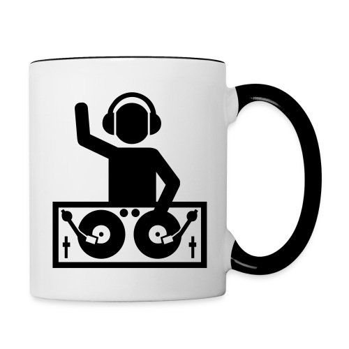 Mug Musique - DJ sur sa Platine - Mug contrasté