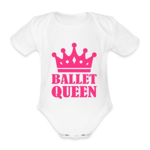 Ballet Queen onesie - Organic Short-sleeved Baby Bodysuit