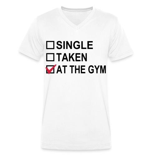 At the gym - Mannen bio T-shirt met V-hals van Stanley & Stella