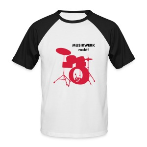 T-Shirt Drums - Männer Baseball-T-Shirt