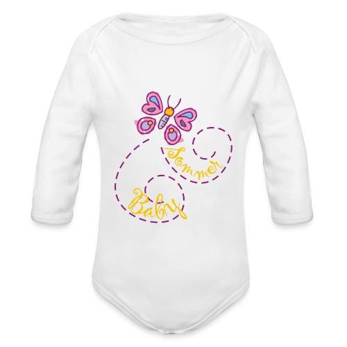 Summer girl onesie - Organic Longsleeve Baby Bodysuit