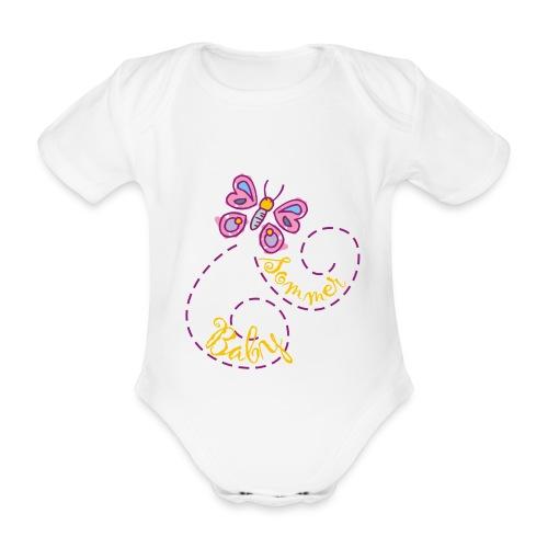 Summer girl short-sleeved onesie - Organic Short-sleeved Baby Bodysuit