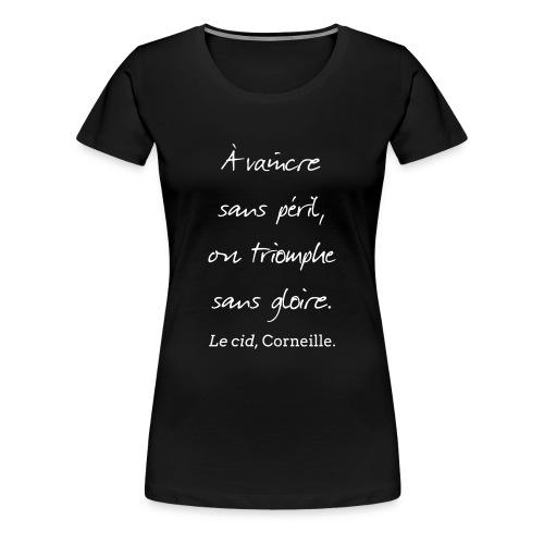 T-Shirt Femme - Cid - Vaincre - Noir - T-shirt Premium Femme
