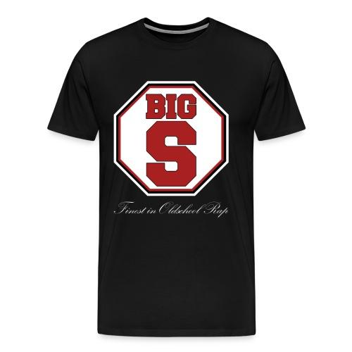 Big S Shirt Finest in Oldschool Rap - Männer Premium T-Shirt