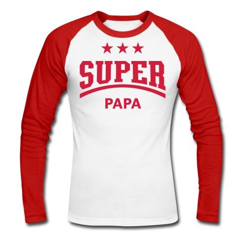 un cadeau pour papa - T-shirt baseball manches longues Homme