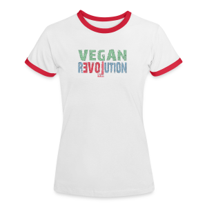 VEGAN REVOLUTION - Frauen Kontrast-T-Shirt