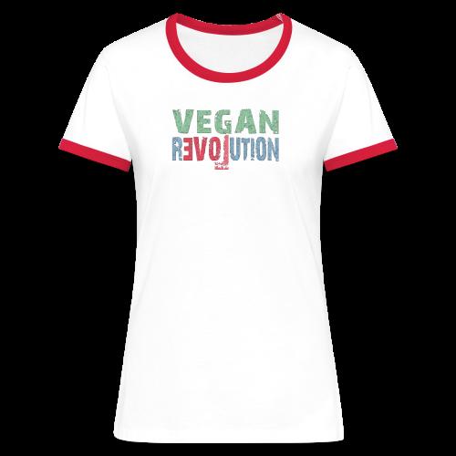 VEGAN REVOLUTION - Frauen Kontrast-T-Shirt