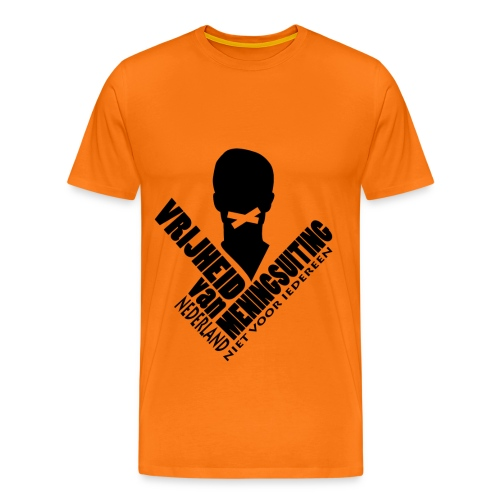 MENINGSUITING #1 (orange) - Men's Premium T-Shirt