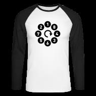 Skjorter med lange armer ~ Langermet baseball-skjorte for menn ~ V8 firing