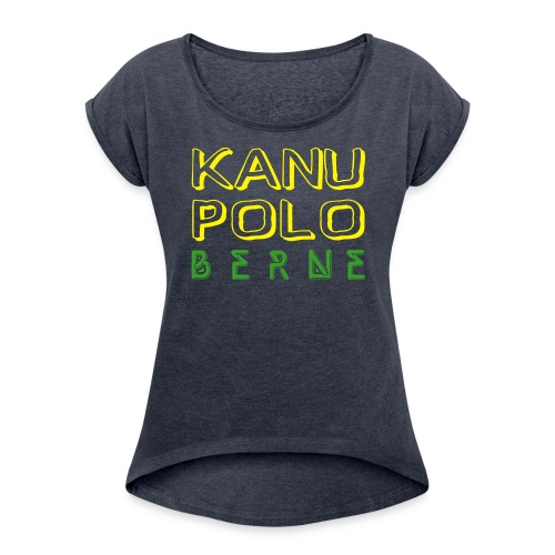Shirt Berne gelb/grün - Frauen T-Shirt mit gerollten Ärmeln