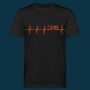 Dub Pulse (orange on black) - Men's Organic T-shirt