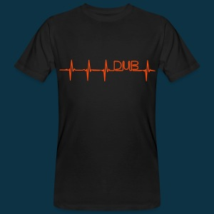 Dub Pulse (orange on black) - Men's Organic T-shirt