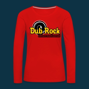 Dub Rock international (female, multi-colored on red) - Women's Premium Longsleeve Shirt