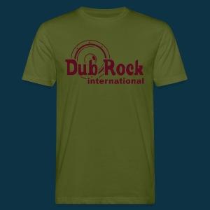 Dub Rock international (dark red on green) - Men's Organic T-shirt