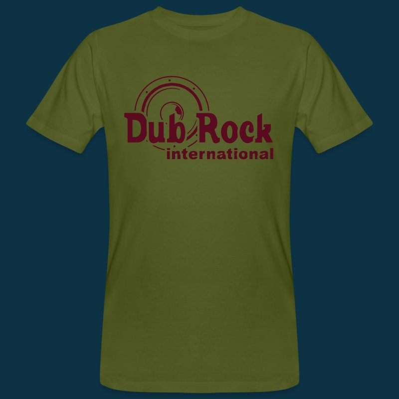 Dub Rock international (dark red on green) - Men's Organic T-shirt