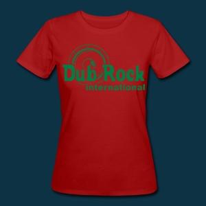Dub Rock international (female, green on red) - Women's Organic T-shirt