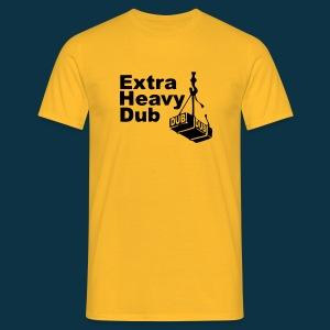 Extra Heavy Dub (black on yellow) - Men's T-Shirt