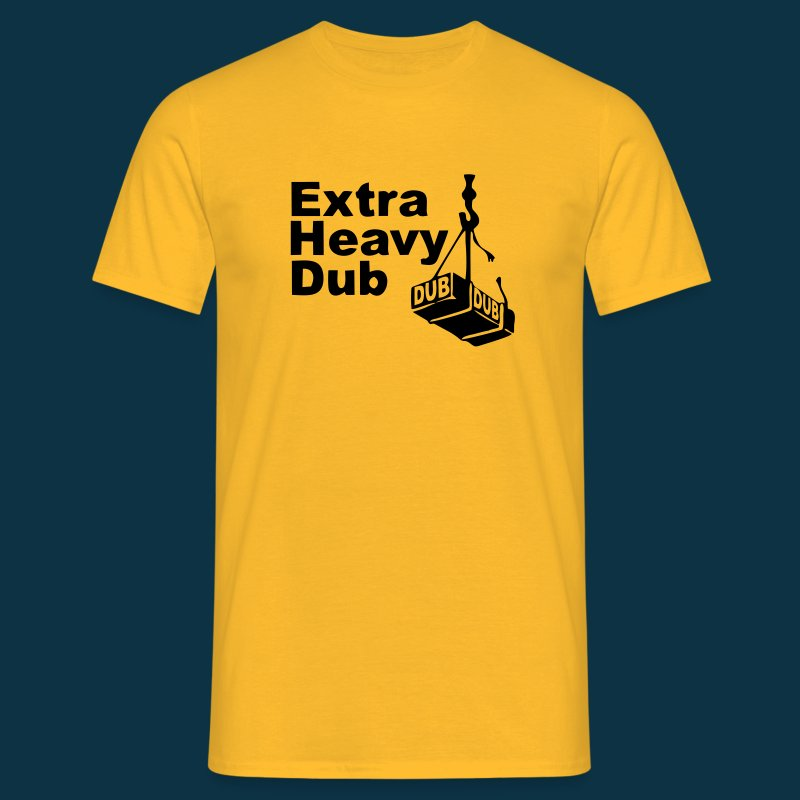 Extra Heavy Dub (black on yellow) - Men's T-Shirt