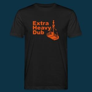 Extra Heavy Dub (orange on black) - Men's Organic T-shirt