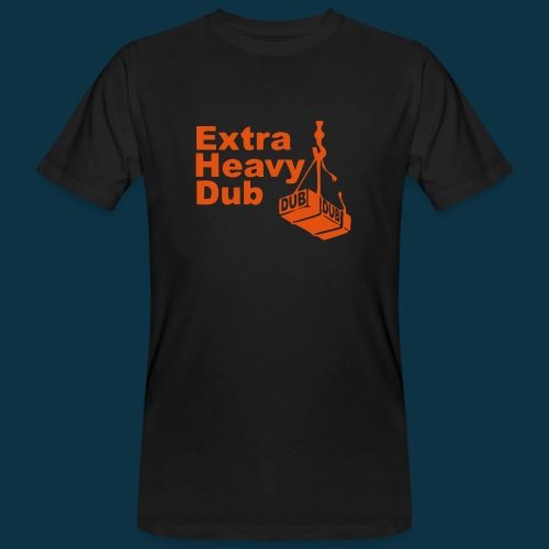 Extra Heavy Dub (orange on black) - Men's Organic T-shirt