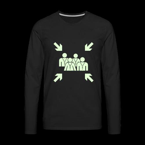 Assembly Point - glowing - Men's Premium Longsleeve Shirt