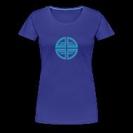 T-Shirts ~ Women's Premium T-Shirt ~ T-Shirt women, Sky Blue Disk