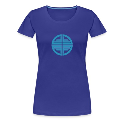 T-Shirt women, Sky Blue Disk - Women's Premium T-Shirt