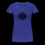 T-Shirts ~ Women's Premium T-Shirt ~ T-Shirt women, Black Disk