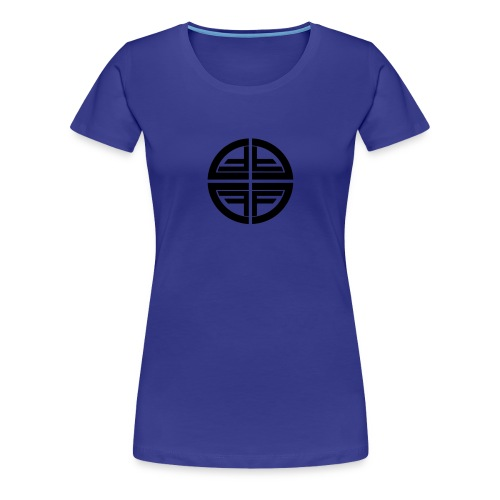 T-Shirt women, Black Disk - Women's Premium T-Shirt