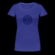 T-Shirts ~ Women's Premium T-Shirt ~ T-Shirt women, Blue Disk